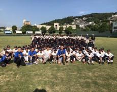 福岡にて高校球児150人にトレーニング指導!